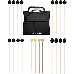 Vic Firth Keyboard Mallet 10-Pack w/ Free Mallet Bag - M182(2), M183(2), M187(4) ,M134(2) (M-10P-4M187)