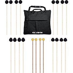 Vic Firth Keyboard Mallet 10-Pack w/ Free Mallet Bag - M182(4), M187(2), M188(2) ,M134(2) (M-10P-4M182)