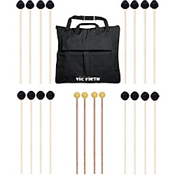 Vic Firth Keyboard Mallet 10-Pack w/ Free Mallet Bag - M182(4), M188(4) ,M134(2) (M-10P-4M18844M182)