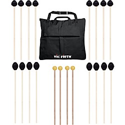 Vic Firth Keyboard Mallet 10-Pack w/ Free Mallet Bag - M183(4), M188(4) ,M134(2) (M-10P-4M1884M183)
