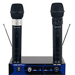 VocoPro Dual Channel VHF Wireless Microphone Set (VHF-3308-3)