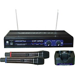 VocoPro UHF-3205 Dual Rechargeable Wireless Mic System (UHF-3205)