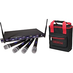 VocoPro UHF-5800 Plus 4-Mic Wireless System with Mic Bag (UHF-5800-3 PLUS)
