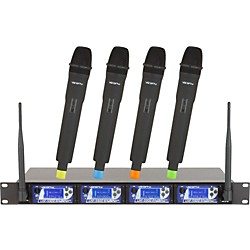 VocoPro UHF-5900 4 Microphone Wireless System with Frequency Scan (UHF-5900)