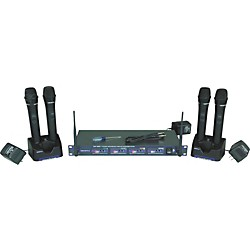 Vocopro UHF-5805 Plus Rechargeable Wireless System with Mic Bag (UHF-5805-3 PLUS)