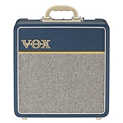 Vox 4W 1x10 All Tube Mini Guitar Combo Amp w/Top Boost (AC4C1-BL)