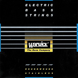 Warwick Red Label Stainless Wound Medium 5-String Bass Strings (WWS42301)