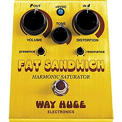 Way Huge Electronics WHE301 Fat Sandwich Harmonic Saturator Distortion Guitar Effects Pedal (WHE301 USED)