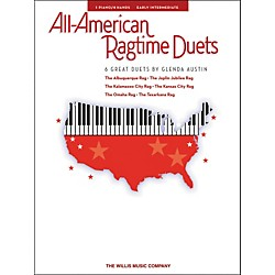 Willis Music All-American Ragtime Duets Early Intermediate 1 Piano 4 Hands by Glenda Austin (416822)