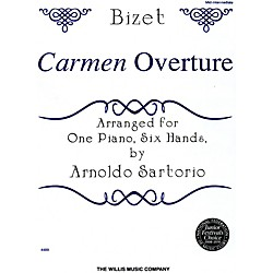 Willis Music Carmen Overture Mid-Intermediate Level One Piano, Six Hands by Arnoldo Sartorio (410726)
