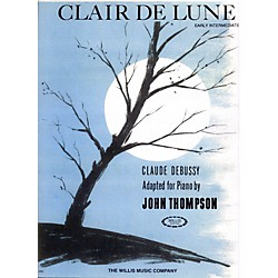 Willis Music Clair De Lune Early Intermediate For Piano by John Thompson (415186)