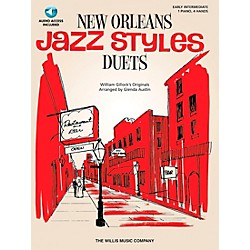 Willis Music New Orleans Jazz Styles Piano Duets (Early Intermediate, 1 Piano, 4 Hands) Book/CD (416805)