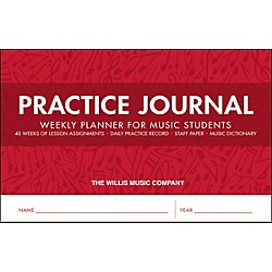 Willis Music Practice Journal - Weekly Planner For Music Students (416837)