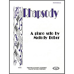 Willis Music Rhapsody Mid-Intermediate Piano Solo by Melody Bober (406160)