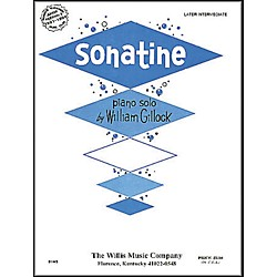 Willis Music Sonatine Mid Intermediate Piano Solo by William Gillock (415517)