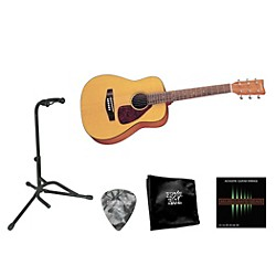 YAMAHA Beginner 3/4 Size Folk Guitar Bundle (YAM JR1 Mini Folk BNDL)