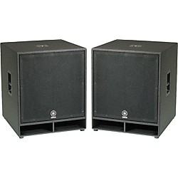 "YAMAHA CW118V 18"" Club Concert Series Subwoofer Pair (KIT773239)"