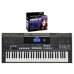 YAMAHA PSRE433 Portable Digital Piano with Yamaha D2 Survival kit (YAMAHAPSRE433K6)
