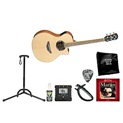 YAMAHA Singer/Songwriter Cutaway Steel String Acoustic-Electric Guitar Bundle (YAM APX500II AE BNDL)