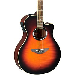 Yamaha APX500IIFM Flame Maple Thinline Cutaway Acoustic-Electric Guitar (APX500FMII OVS)