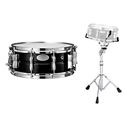 Yamaha Concert Series Steel Snare Drum with Stand, 14 x 5.5 (CSS1455S-KIT)
