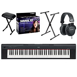 Yamaha NP31 76-Key Portable Digital Piano with Yamaha D2 Survival Kit, Bench, Stand, & Headphones (YAMAHANP31K3)