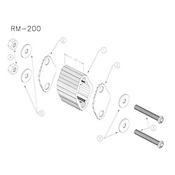 Yamaha RM200 Large Marching Quad Spacer (RM-200)