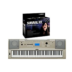 Yamaha YPG-235 76-Key Portable Grand Piano Keyboard with D2 Survival Kit (YPG235 KIT)