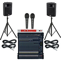 Yamaha Yamaha MG206C-USB / Harbinger APS12 PA Package with BBE 382i (MG206CAPS12382i)