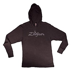 Zildjian Long Sleeve Hooded Shirt, Black (T7124)