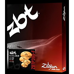 "Zildjian ZBT P390-F Cymbal Pack with Free 14"" Crash (ZBTP390-F)"