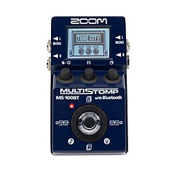 Zoom MS100BT Multistomp Pedal w/ Bluetooth Multi FX Pedal (ZMS100BT)