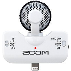 Zoom iQ5 Professional Stereo Microphone for iPhone (ZiQ5W)