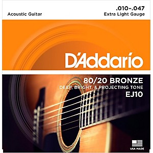 D-Addario-EJ10-80-20-Bronze-Extra-Light-Acoustic-Guitar-Strings-Standard