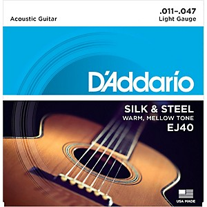 D-Addario-EJ40-Silk-and-Steel-Ball-End-Acoustic-Folk-Guitar-Strings-Standard