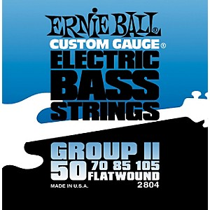 Ernie-Ball-2804-Flat-Wound-Group-II-Electric-Bass-Strings-Standard