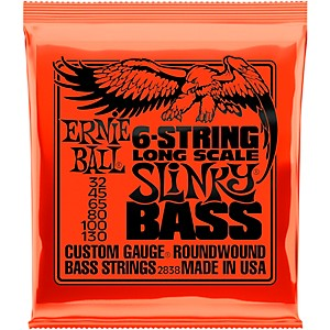 Ernie-Ball-2838-Slinky-Nickel-Round-Wound-6-String-Electric-Bass-Strings-Standard