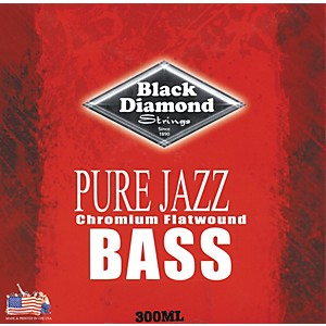 Black-Diamond-Pure-Jazz-Bass-Guitar-Chromium-Flat-Wound-Strings-Standard