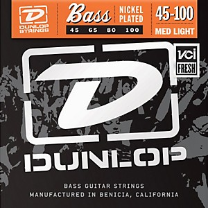 Dunlop-Nickel-Plated-Steel-Bass-Strings---Medium-Light-Standard