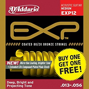 D-Addario-EXP12-Coated-80-20-Bronze-Medium-6-String-Acoustic-String-Set---Buy-One-Get-One-Free-Standard