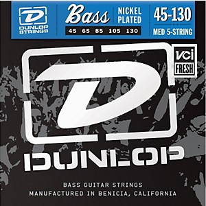 Dunlop-Nickel-Plated-Steel-Bass-Strings---Medium-5-String-with-130-Standard