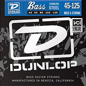 Dunlop-Stainless-Steel-Medium-5-String-Bass-Strings-Standard