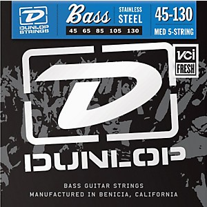 Dunlop-Stainless-Steel-Bass-Strings---Medium-5-String-with-130-Standard