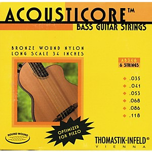 Thomastik-AB346-Acousticore-Phosphor-Bronze-6-String-Bass-Strings-Standard
