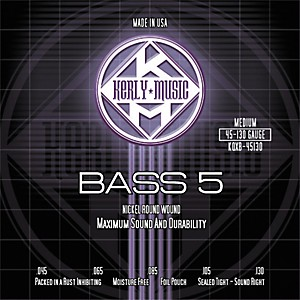 Kerly-Music-Nickel-Plated-5-String-Bass-Strings-Medium-Standard
