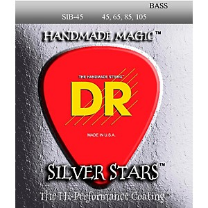 DR-Strings-SIB-45-Silver-Stars-Coated-4-String-Medium-Bass-Guitar-Strings-Standard