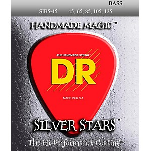 DR-Strings-SIB-45-125-Silver-Stars-Coated-5-String-Bass-Guitar-Strings-Standard