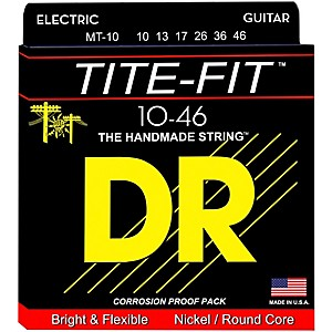 DR-Strings-Tite-Fit-MT-10-Medium-Tite-Nickel-Plated-Electric-Guitar-Strings-Standard