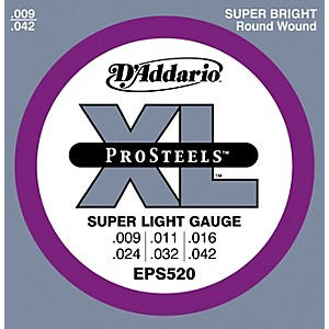 D-Addario-EPS520-ProSteels-Super-Light-Electric-Guitar-Strings-Standard