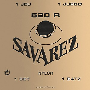 Savarez-520R-Traditional-Red-Card-Strong-Tension-Classical-Guitar-Strings-Standard
